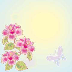Flower watercolor.