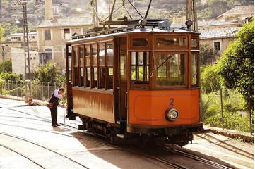 Tren turistico Soller Mallorca España