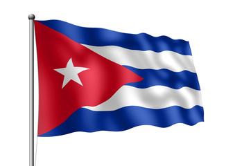 Kuba-Flagge