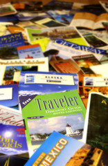 Travel brochures and maps