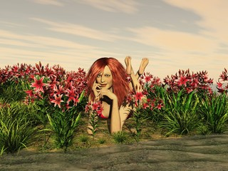femme fleure