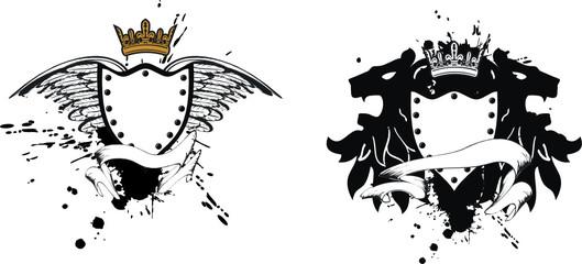 heraldic crest lion