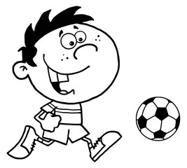 Soccer Boy With Ball