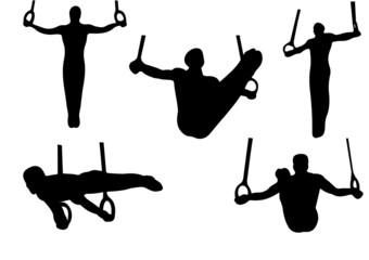 sport gymnastics rings vector