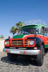 Garden Poster Cars from Cuba Bus