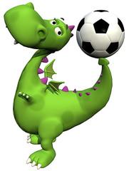 footballer dino baby dragon - ball on tail