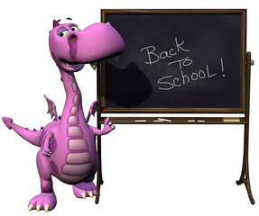 baby dragon pink back to school blank