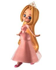 Pretty Pink Toon Princess
