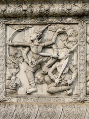 Ayutthaya temple wall reliefs nb. 10
