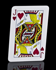 Hearts Jack Playing Card