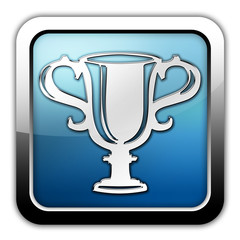 "Glossy Square Icon ""Award Cup"""
