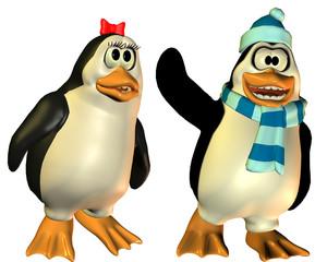 freundliches Pinguin Päarchen
