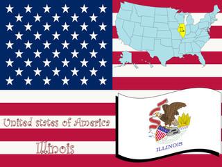 illinois state illustration