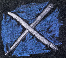 Chalk Scotland flag