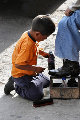 El limpiador de botas