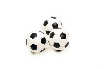 three classic soccer balls (isolated)