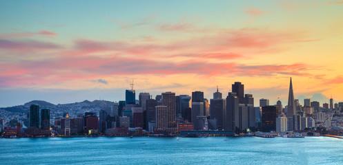Self adhesive Wall Murals San Francisco San Francisco Skyline at Sunset HDRI