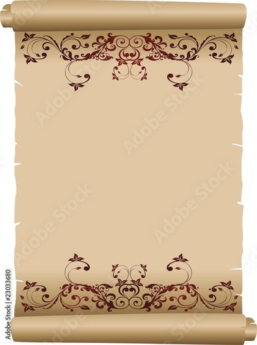 Pergamena Decorata Decorated Parchment Background Vector 2 Stock