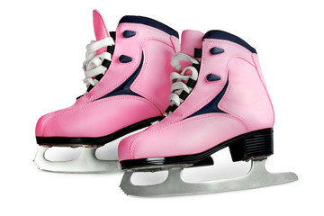 women's skates pink  isolated