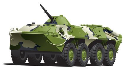 Keuken foto achterwand Militair armored troop-carrier.