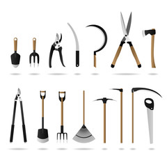 Gardening Tool Set Vector