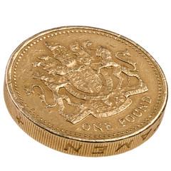 One pound British coin