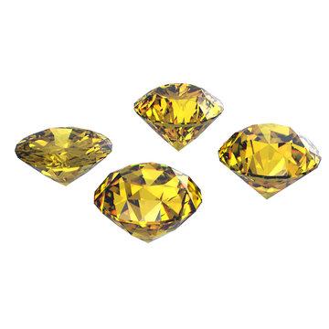 Round yellow sapphire