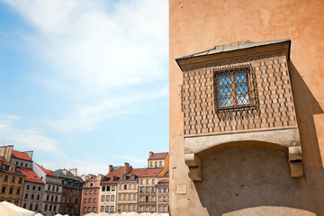 Remarkable windows of Warsaw's Old Town