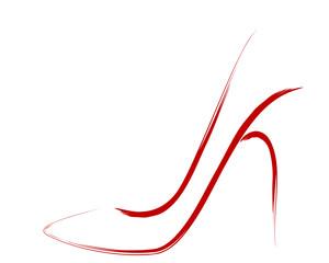 Red stiletto, sketch