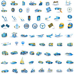 Light blue Transport icons