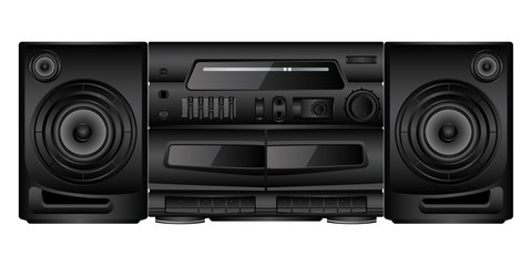Isolated image of a boombox