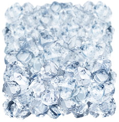 Deurstickers In het ijs Ice cubes on a white background