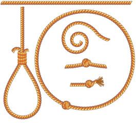 ropes set - gibbet,knot,loop,spiral,circle