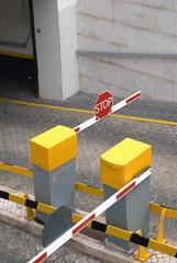 Public car parking entrance barrier