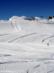 Picturesque Alpine ski slope