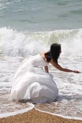 mariée a la mer