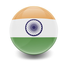 Esfera brillante con bandera India