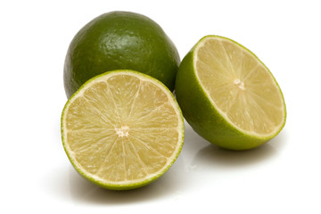 Lime cut into sections