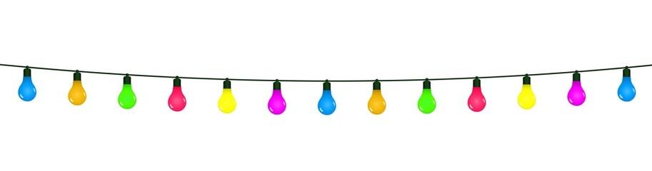 Guirlande d'ampoules colorées