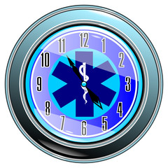 clock with medical sign vector eps10
