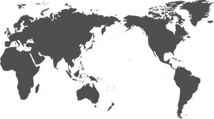 Spoed Fotobehang Wereldkaart 世界地図