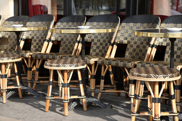 Cafe Tables in Paris
