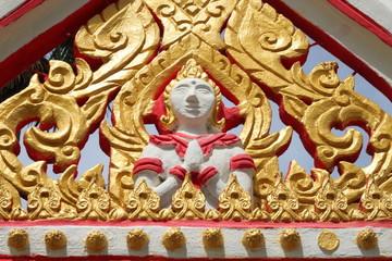 art on archway of temple, Non Rang, Yangsrisurat, Mahasarakam