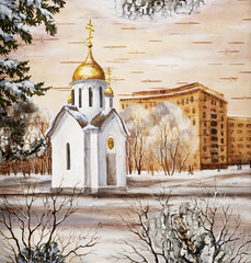 Chapel in honour of sacred Nikolay, Novosibirsk