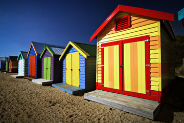 Printed kitchen splashbacks Australia Bathing boxes at Brighton Beach