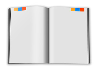 Illustration of  book on white background