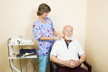 Ultrasound Therapy for Senior Man