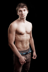 Shirtless man with fit sexy body