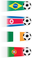 Soccer World Cup Group G Teams clipart (other groups availabel)