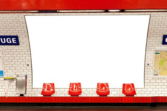 billboard in subway